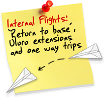 Groups and tour operators - internal flights