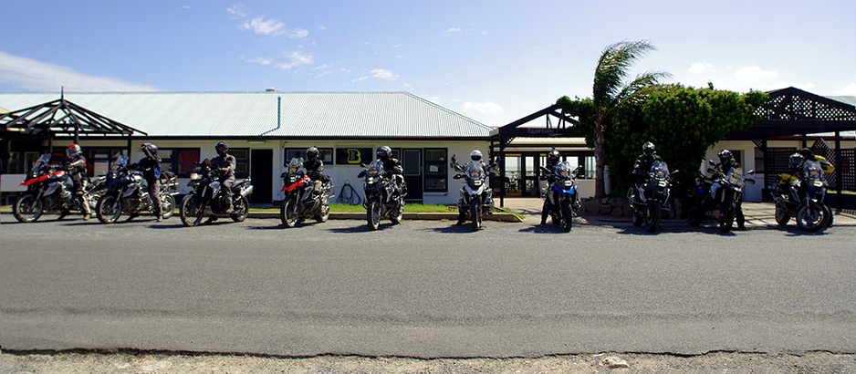 Group motorbike tour option available...