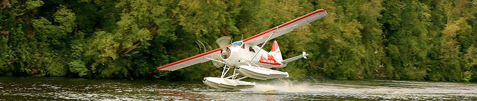 Plane on river - Tasmania