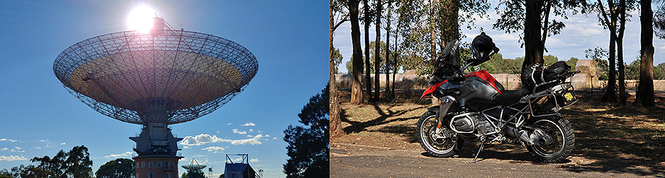 Opera, Outback and Ocean motorcycle tour - Parkes Telescope
