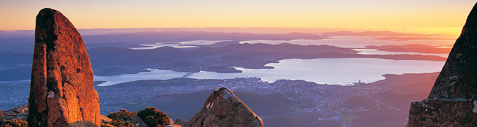 Hobart from Mount Wellington Tasmania