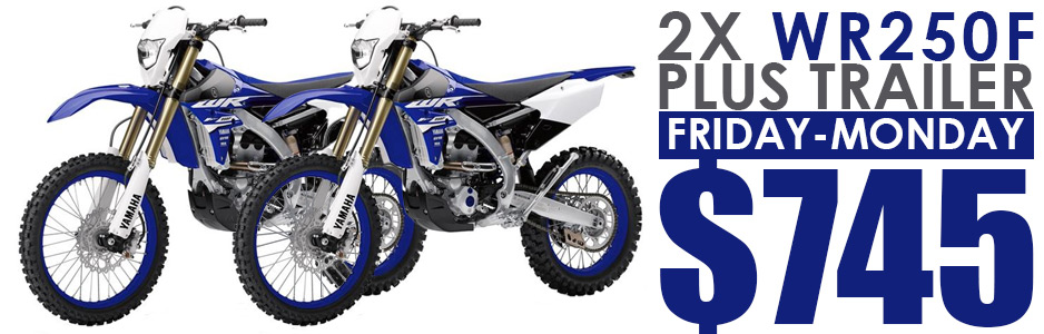Yamaha WR250F to hire from Sydney